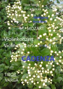 Titelseite von Tibor Vargas Cadenza zu Mozarts Violinkonzert KV 211