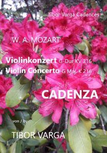 Titelseite von Tibor Varga: Cadenza zu Mozarts Violinkonzert KV 216