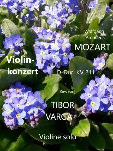 Titelseite zu Tibor Vargas Ausgabe von Mozarts Violinkonzert KV 211