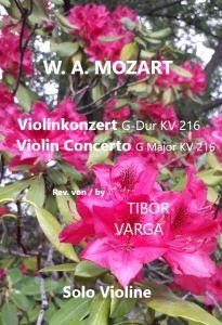 Titelseite zu Tibor Vargas Ausgabe von Mozarts Violinkonzert KV 216