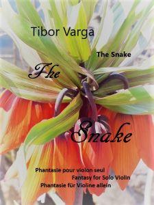 "Titelseite Tibor Varga ""The Snake"". Phantasie für Violine allein"